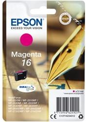 INKCARTRIDGE EPSON 16 T1623 ROOD 1 Stuk