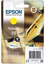 INKCARTRIDGE EPSON 16 T1624 GEEL 1 Stuk