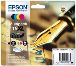 INKCARTRIDGE EPSON 16XL T1636 ZWART + 3 KLEUREN 4 Stuk
