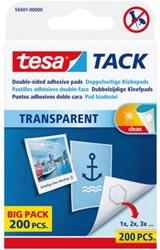 KLEEFPAD TESA TACK TRANSPARANT 200 STUKS 200 Stuk