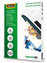 LAMINEERHOES FELLOWES A4 2X100MICRON 100 Stuk
