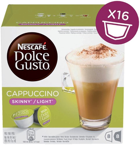 DOLCE GUSTO CAPPUCCINO LIGHT 16 CUPS / 8 DRANKEN 16