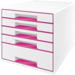 LADENBOX LEITZ WOW 5 LADEN WIT/ROZE 1 Stuk
