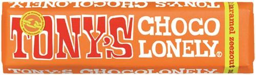 TONY'S CHOCOLONELY MELK KARAMEL ZEEZOUT 47GR 47 Gram