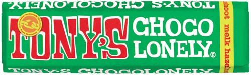 TONY'S CHOCOLONELY MELK HAZELNOOT 47GR 47 Gram