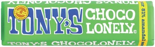 TONY'S CHOCOLONELY AMANDEL ZEEZOUT 47GR 47 Gram