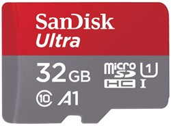 GEHEUGENKAART SANDISK MICRO SDXC ANDROID 32GB CL10 1 Stuk