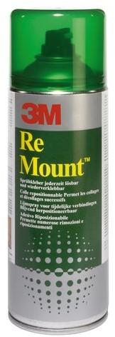 LIJM 3M REMOUNT 9473 SPRAY 400ML 1 Stuk