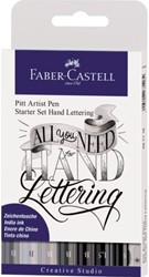 TEKENSTIFT FABER CASTELL PITT ARTIST HANDLETTERING 8 Stuk