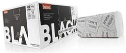 HANDDOEK SATINO BLACK 25X23CM 2-LAAGS ZIGZAG 15 Pak