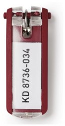 SLEUTELLABEL DURABLE MET RING ROOD 1 Stuk