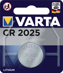 BATTERIJ VARTA CR2025 LITHIUM 1 Stuk