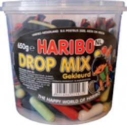 DROPMIX GEKLEURD HARIBO 650GR 650 Gram