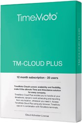 SAFESCAN TIMEMOTO TM-CLOUD+ 25 USER SUBSCRIBTION 1 Stuk