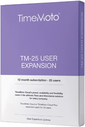 SAFESCAN TIMEMOTO TM-25 CLOUD USER EXPANSION 1 Stuk