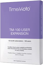 SAFESCAN TIMEMOTO TM-100 CLOUD USER EXPANSION 1 Stuk