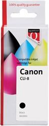 INKCARTRIDGE QUANTORE CAN CLI-8 + CHIP ZWART 1 Stuk
