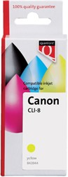 INKCARTRIDGE QUANTORE CAN CLI-8 + CHIP GEEL 1 Stuk