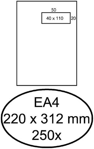 ENVELOP HERMES AKTE EA4 VR 4X11 ZK 120GR 250ST 250 Stuk