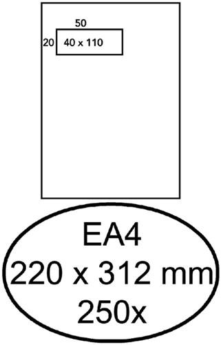 ENVELOP HERMES AKTE EA4 VL 4X11 ZK 120GR 250ST 250 Stuk