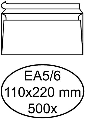 ENVELOP HERMES BANK EA5/6 110X220 ZK 80GR 500ST WT 500 Stuk