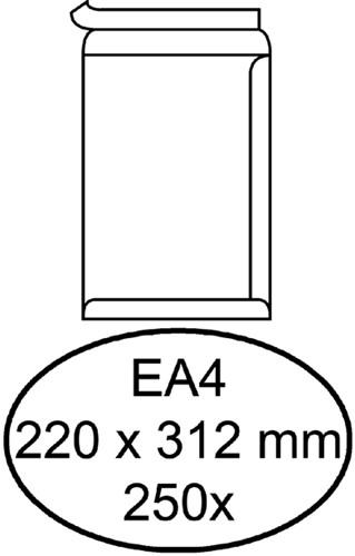 ENVELOP HERMES AKTE EA4 220X312 ZK 120GR 250ST WIT 250 Stuk