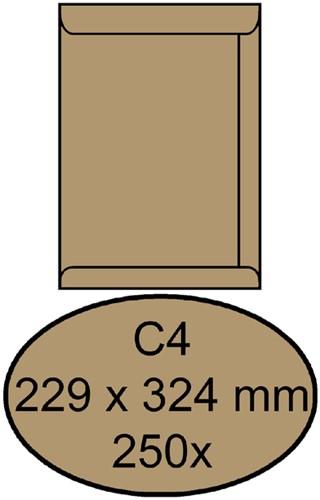 ENVELOP QUANTORE AKTE C4 229X324 100GR BRUINKRAFT 250 Stuk