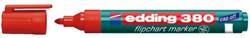 VILTSTIFT EDDING 380 FLIPOVER ROND 1.5-3MM ROOD 1 Stuk