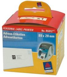 LABEL ETIKET AVERY ZWECK R5012 89MMX28MM THERM WIT 260 Etiket