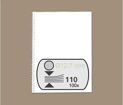 DRAADRUG GBC 12.7MM 34RINGS A4 ZILVER 100 Stuk