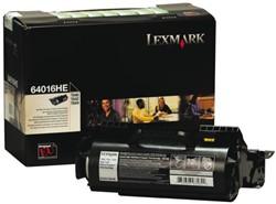 TONERCARTRIDGE LEXMARK 64016HE PREBATE 21K ZWART 1 Stuk