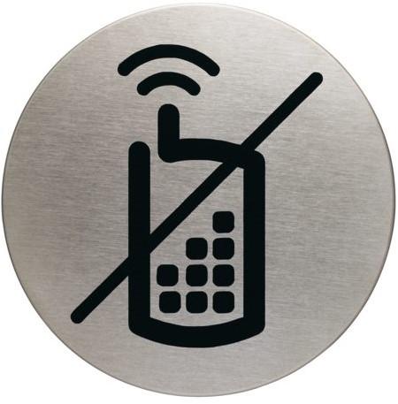 INFOBORD PICTOGRAM DURABLE GSM VERBODEN ROND 83MM 1 Stuk