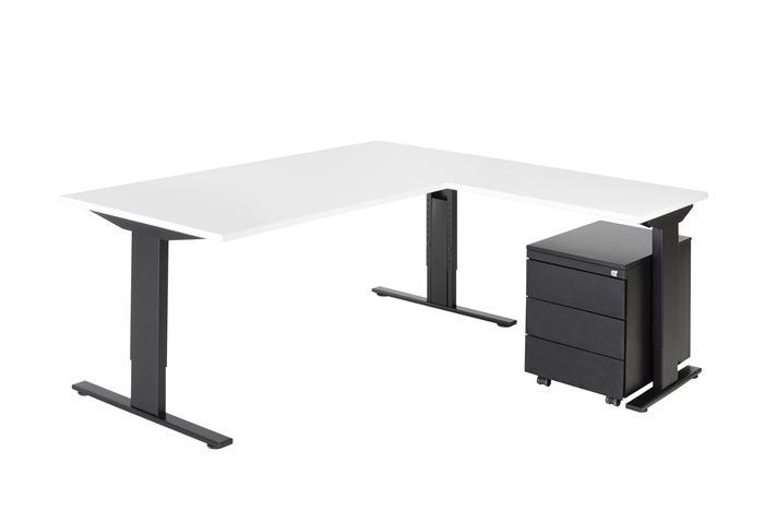 Combinatie bureau 180x80 aanbouw serie 50 incl for Ladenblok op bureau