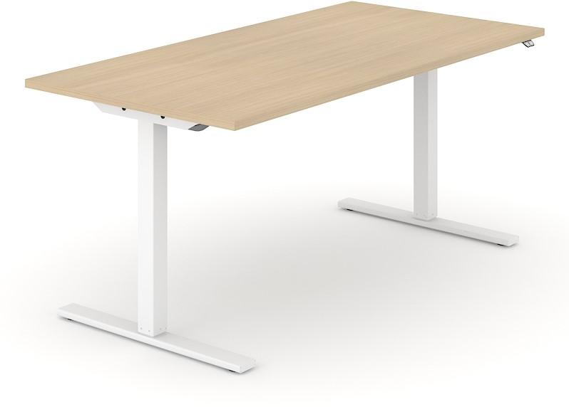 Elektrische verstelbaar zitsta bureau frame one d wit eiken