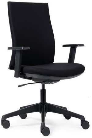 Bureaustoel Stof Zwart.Bureaustoel Vls 01 Zwart Stoffen Bekleding Per Stuk One Stop Office