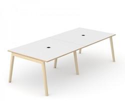 Vergadertafel Nova Wood Met Stopcontact - Houten Frame
