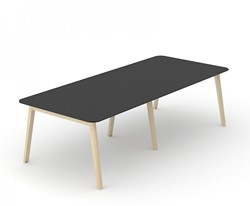 Vergadertafel Nova Wood HPL - Houten Frame