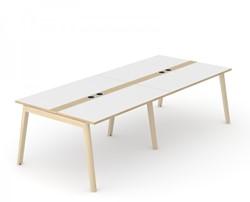 Vergadertafel Nova Wood Met Stopcontacten - Houten Frame