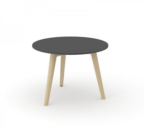 Koffietafel Nova Wood HPL rond houten frame