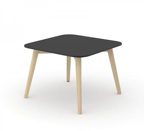 Koffietafel Nova Wood HPL vierkant houten frame