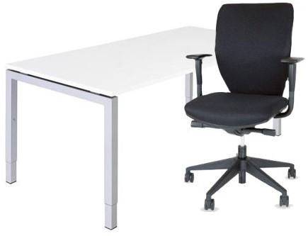 Bureaustoel De Wit.Combinatie Bureau En Bureaustoel Serie 55 160 X 80 Cm Wt Wit