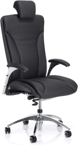 Lederen Bureaustoel Kopen.Bureaustoel Kohl Salveo 8220 Buitenschaal Netstoffering Leder Bekleed