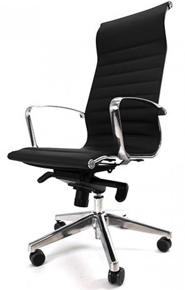 Bureau Stoel Luxe.Luxe Design Bureaustoel Manhattan Met Hoge Rug En Chroom Voetkruis