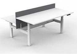 Elektrisch Verstelbaar Zitsta Bureau Frame Pro Duo Lux - Wit - 2 Motoren
