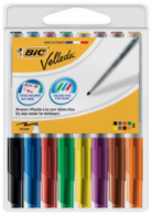 VILTSTIFT BIC 1741 WHITEBOARD ROND ASSORTI 8 STIFTEN 1.4MM