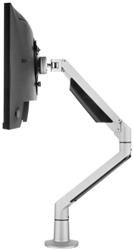 Monitorarm Galaxy Gasgeveerd Enkel (2-12Kg) Zilver Met Executive Bladklem En Bladdoorvoer