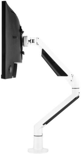 Monitorarm Galaxy Gasgeveerd Enkel (2-12Kg) Wit Met Executive Bladklem En Bladdoorvoer