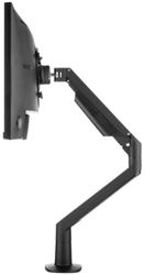 Monitorarm Galaxy Gasgeveerd Enkel (2-12Kg) Zwart Met Executive Bladklem En Bladdoorvoer