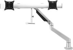 Monitorarm Damian Zilver Voor 2 Monitoren  10-20 kg