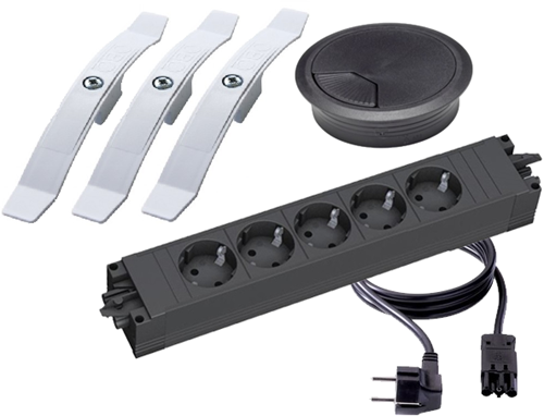 Kabel management pakket - Zwart